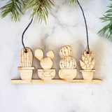 Cactus and Succulent Bamboo Christmas ornament