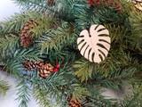 monstera wood ornament, zero waste gift, Monstera Leaf ornament Gift ,Tropical Flower ornament,