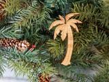 Palm tree ornament, mini palm tree ornament,