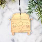 VW Combi Van Wood Ornament