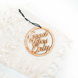good vibes only ornament