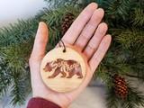 california bear handmade no plastic ornament