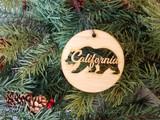 california bear wood ornament
