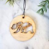 los angeles handmade christmas ornament