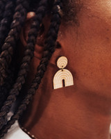 natural wood rainbow arch earrings, rainbow Jewelry, , rainbow dangle earrings, mini