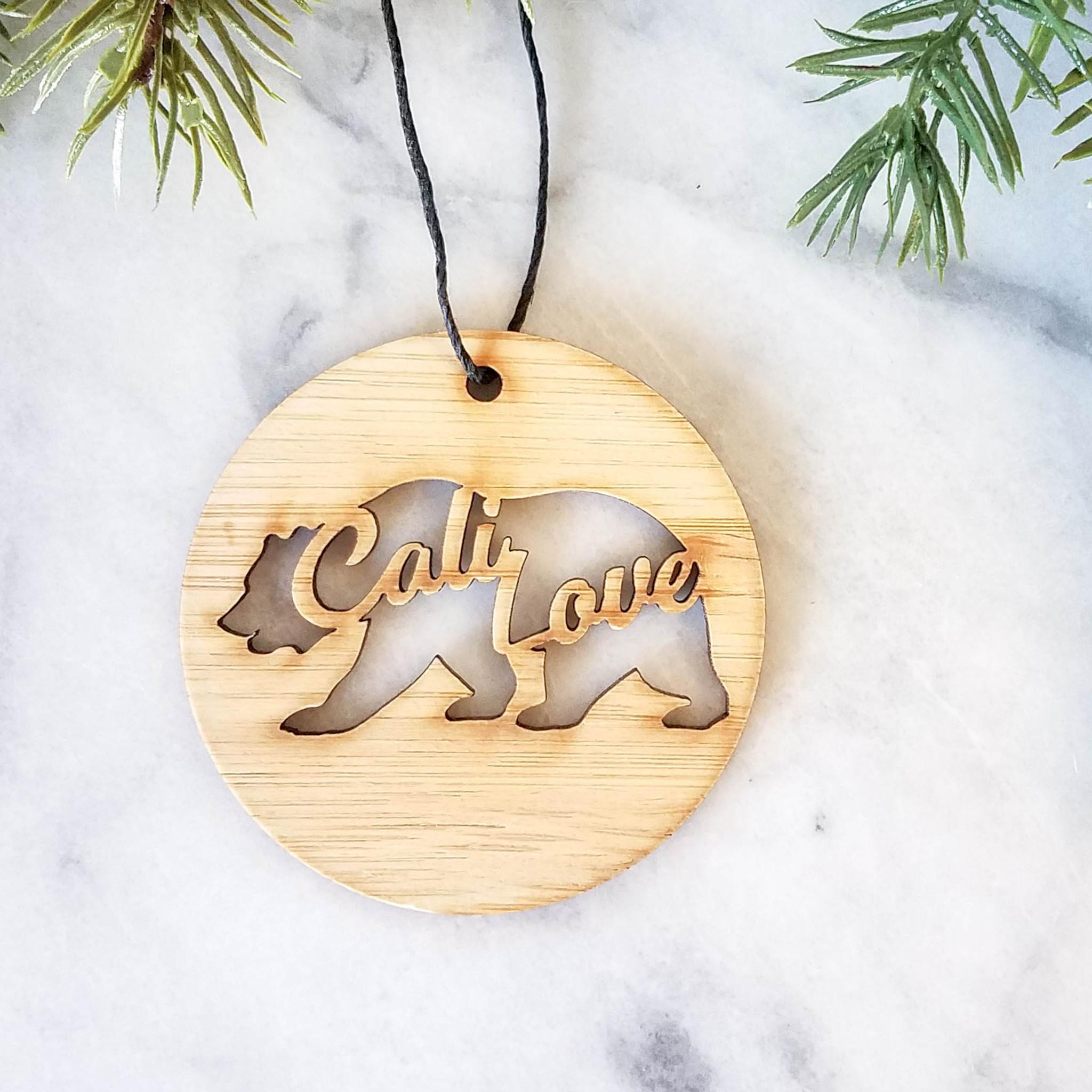 california love christmas ornament