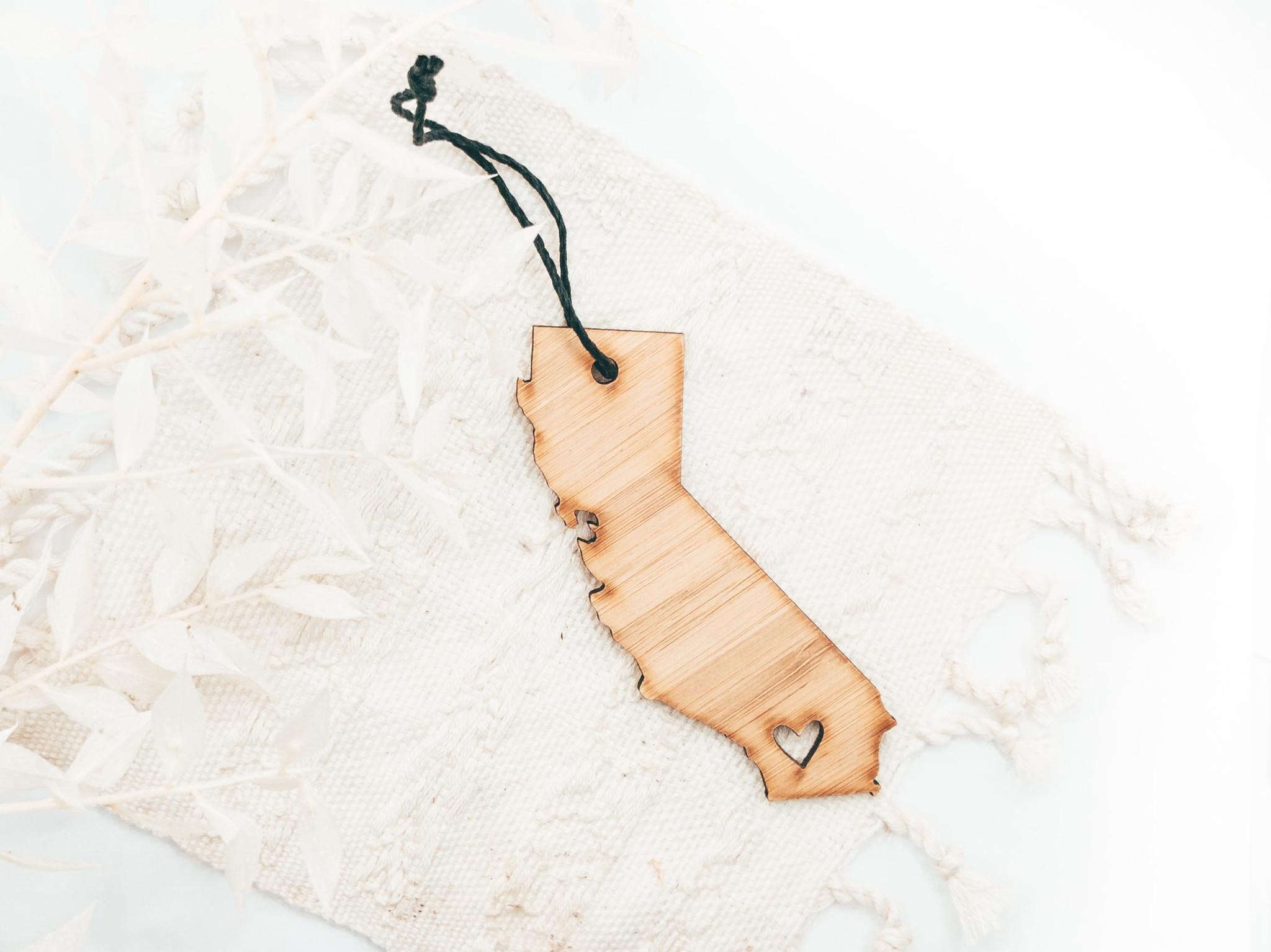California state Ornament,   california state wooden ornament