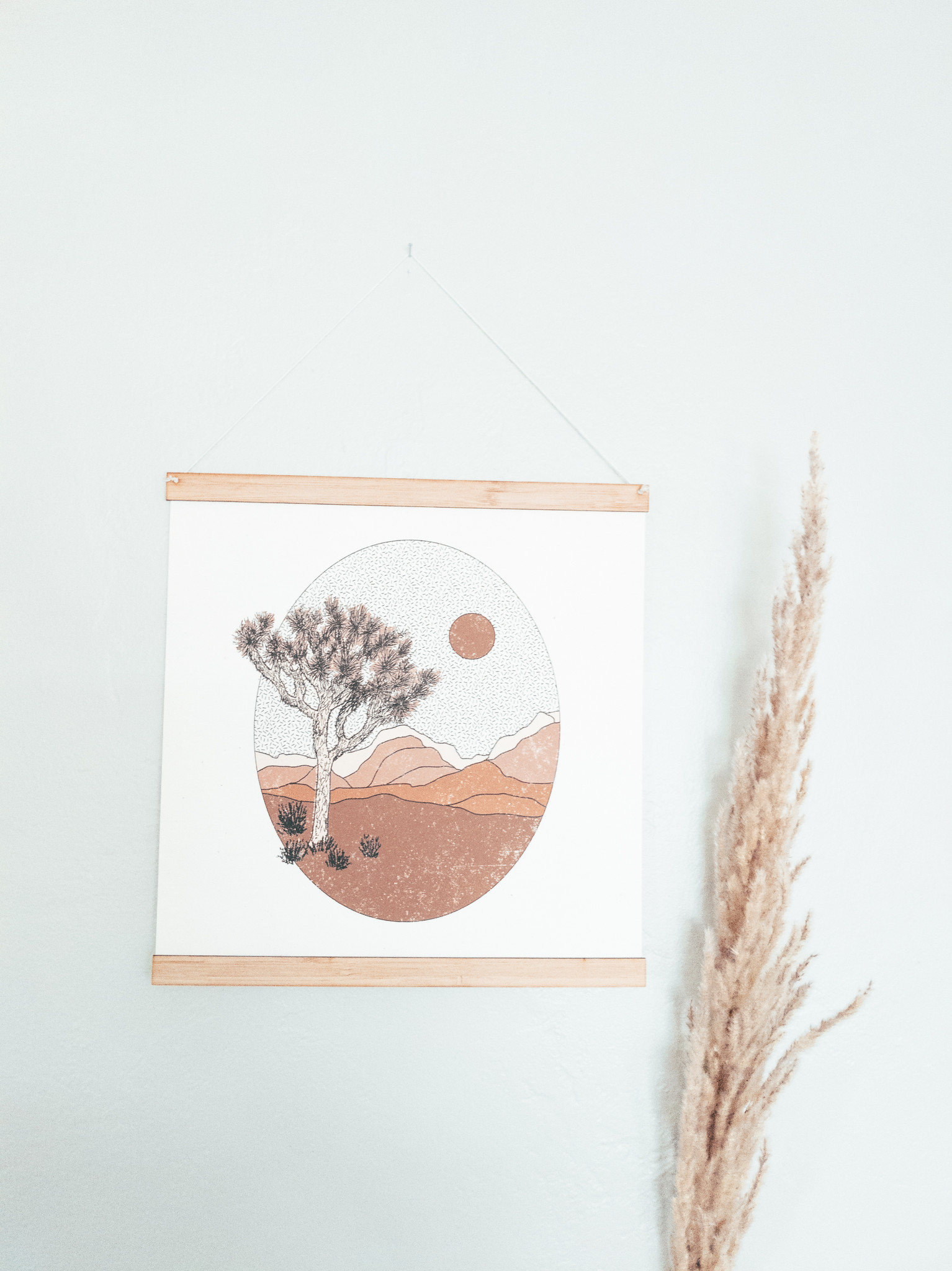 wood thin poster frame for wall art