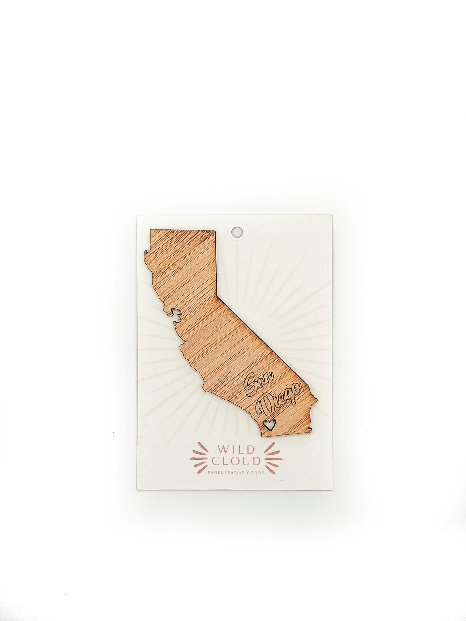 wild cloud san diego magnet, california state, bamboo