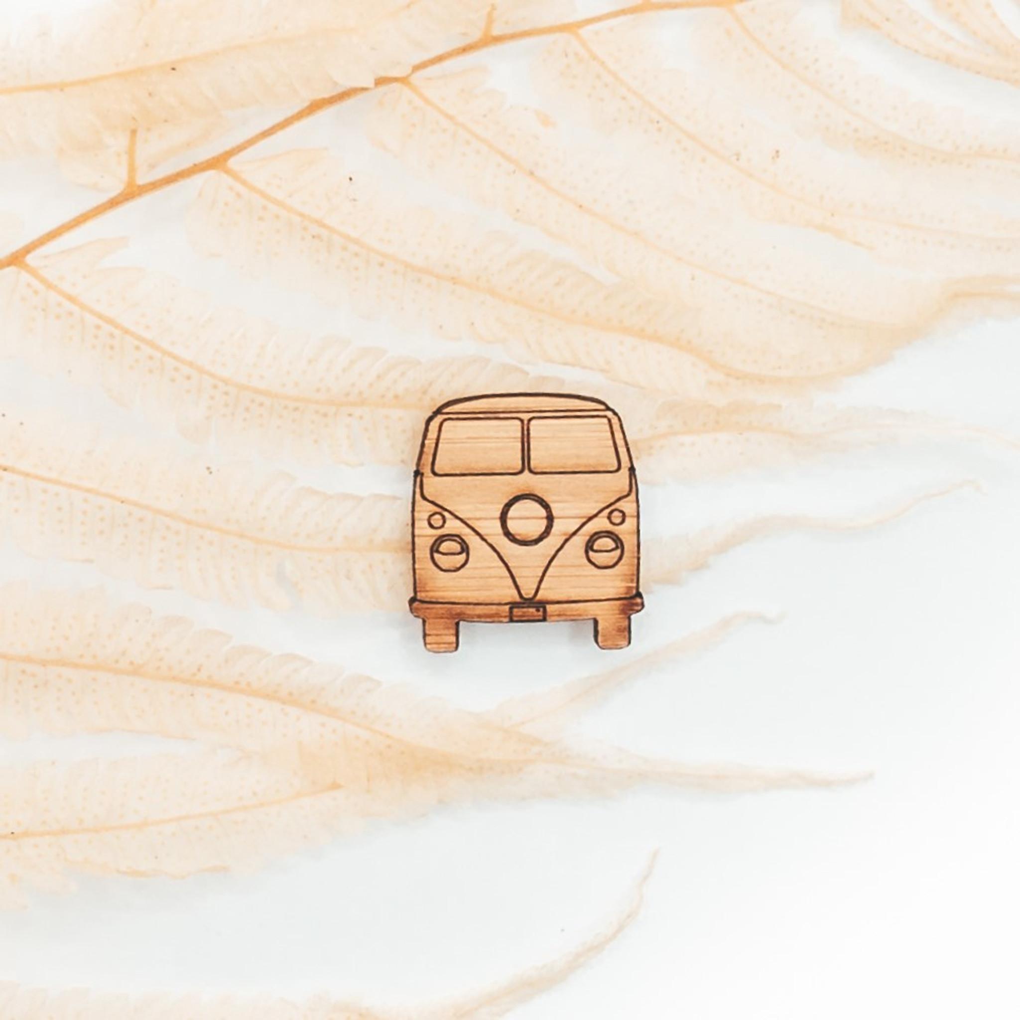 VW Campervan wood pin