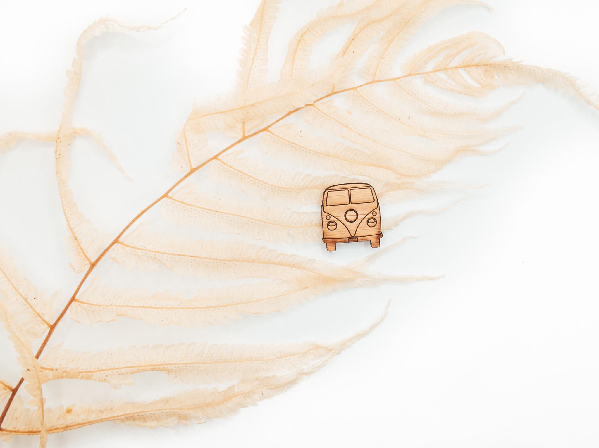 VW kombi handmade pin