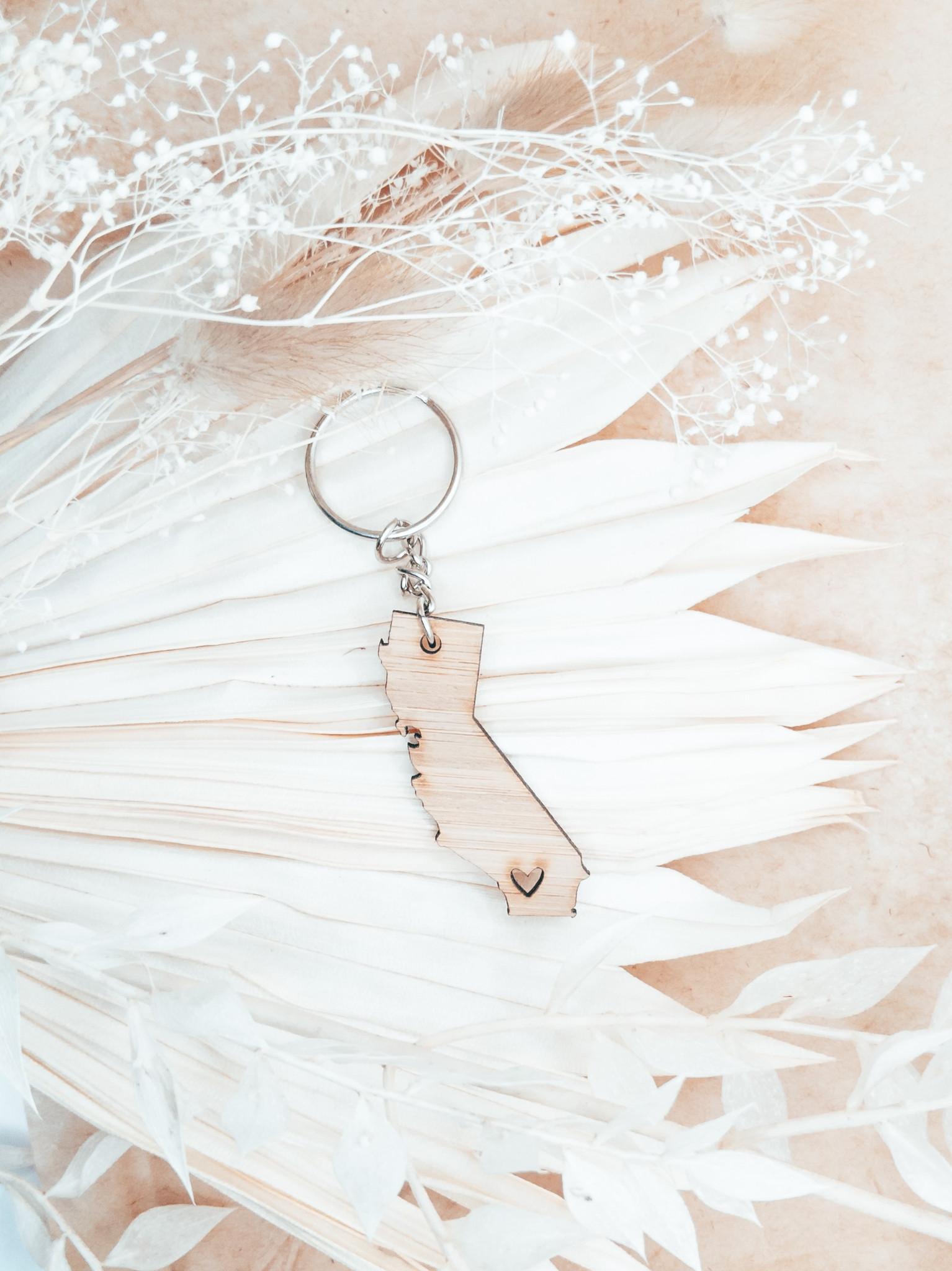 california handmade socal love keychain