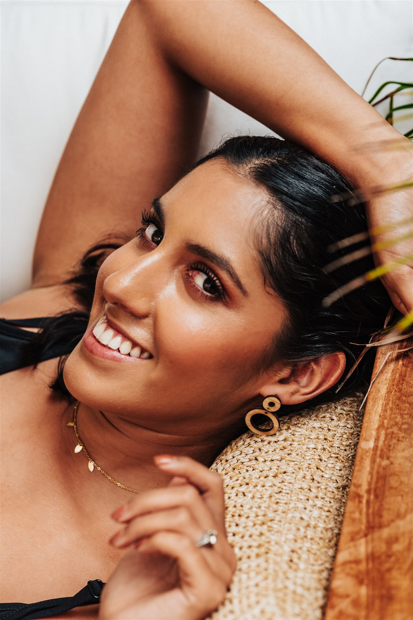 low waste gift for her, bamboo earrings