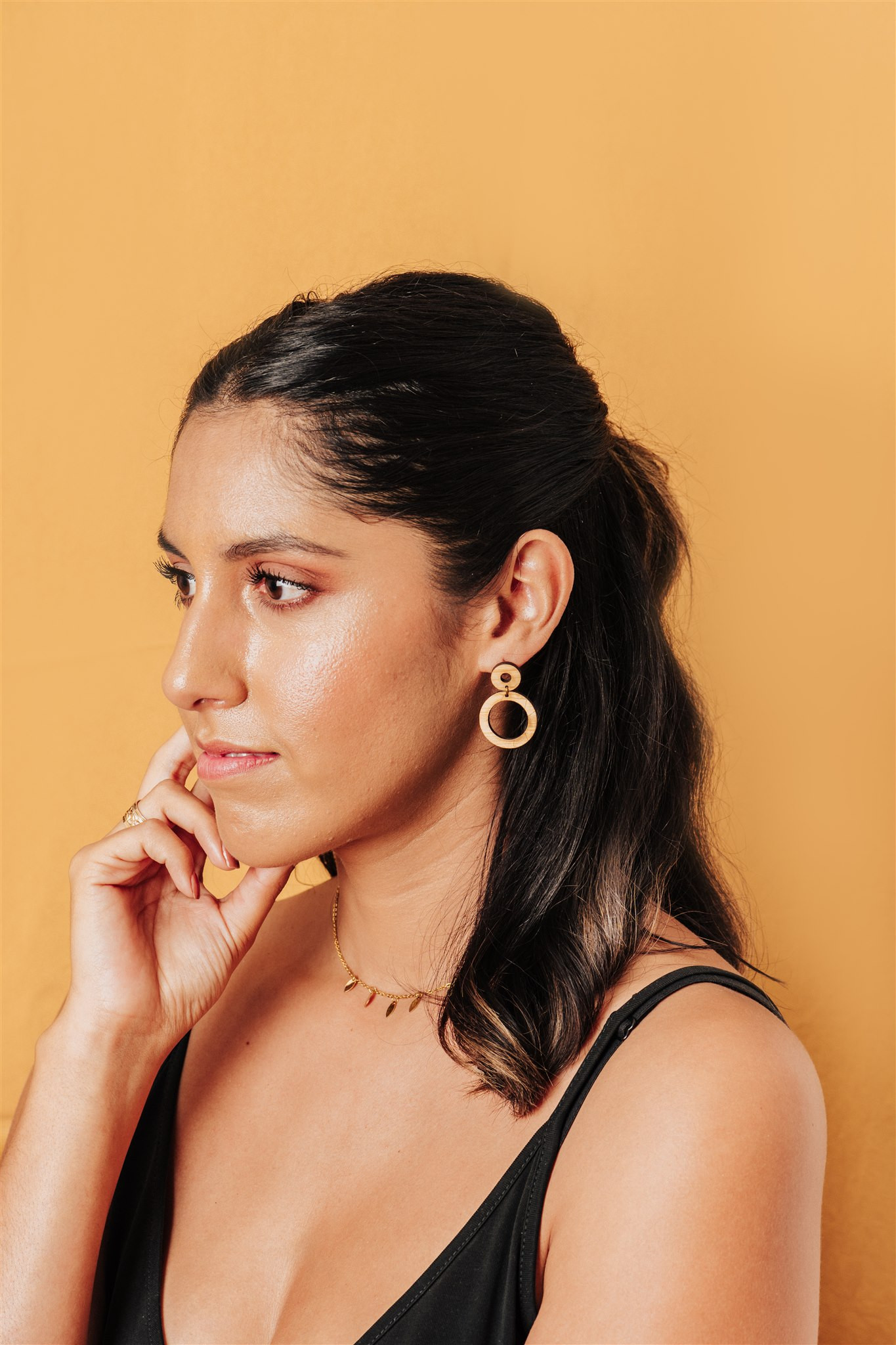 zero waste jewelry earrings made out of bamboo