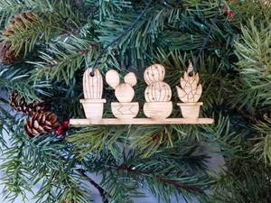 cacti ornament, cactus ornament, cactus christmas ornament