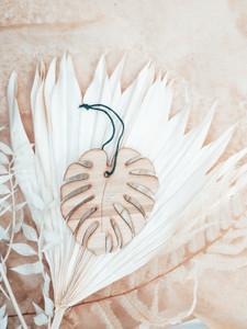 monstera leaf ornament, monstera ornament