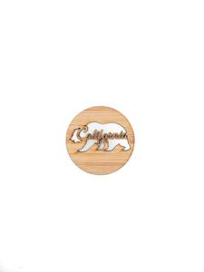 california bear bamboo magnet handmade in usa