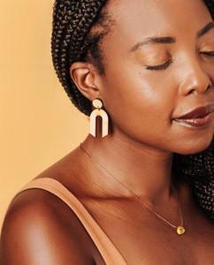 geometric wooden Earrings, Statement Earrings,