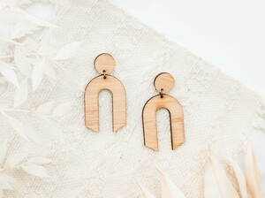 U Shape handmade Earrings wild cloud