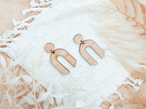 Arch Earrings Rainbow minimalist Earrings