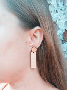 vertical bar earrings