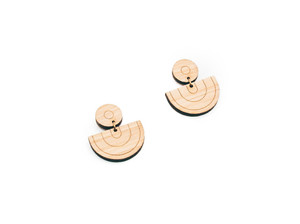 Everyday Minimalist half circle Earrings