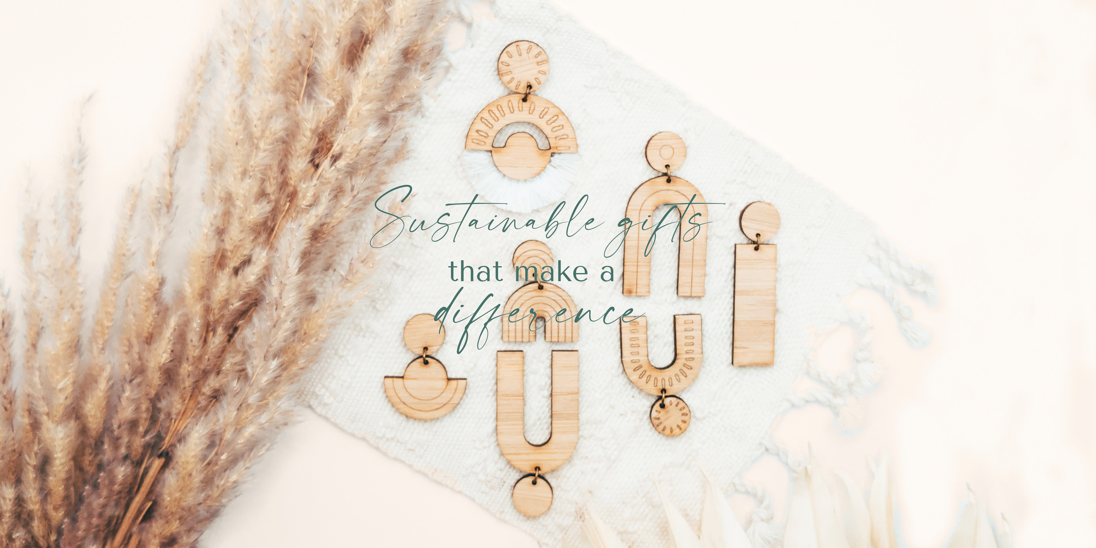 sustainable fashion brand - handmade bamboo earrings and gift