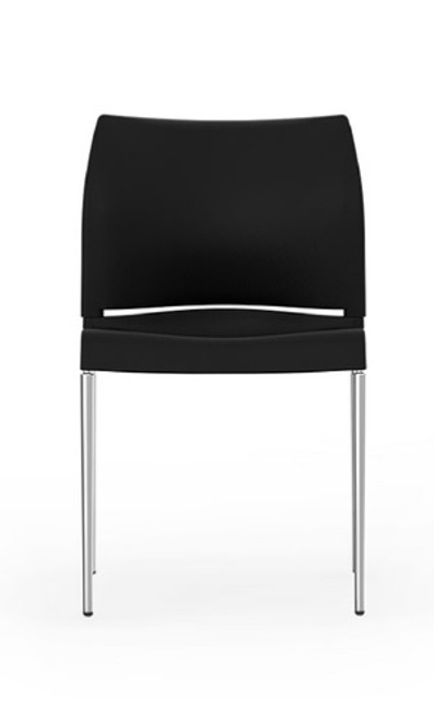 I-Desk Pommerac High Density Stack Chair in black