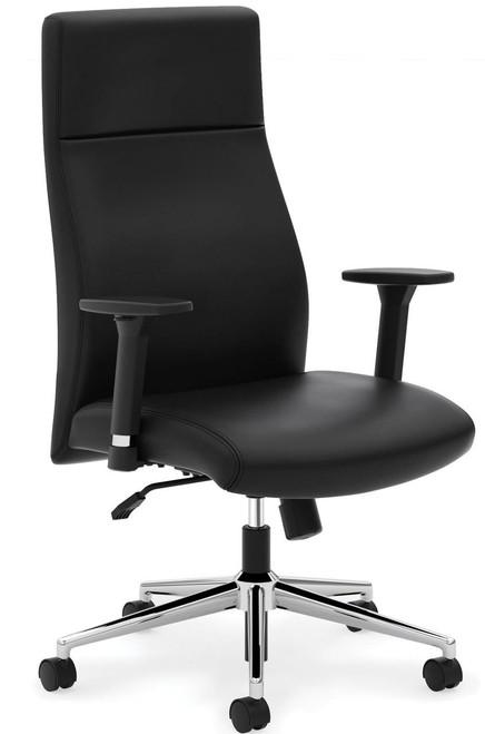 Leather Tuxedo Design Executive High Back, black leather