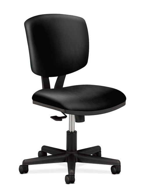 Hon Volt Synchro-Tilt Chair Non-Mesh in black leather