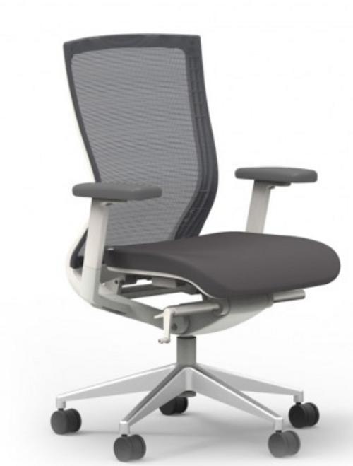 I-Desk Oroblanco Synchro-Tilt Chair in Coal White Frame