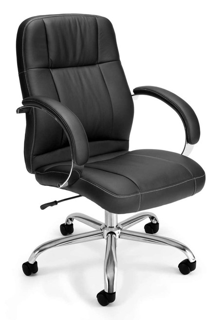 OFM Stimulus Leatherette Executive Mid-Back Chair