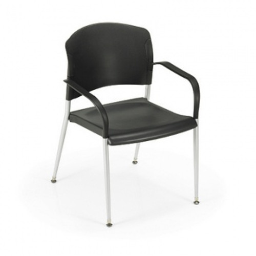 Stackable Guest Chair with optional arms, front view