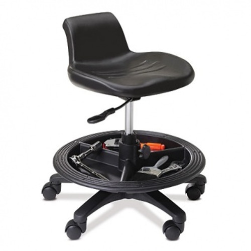 WS11 Workstool with footrest and tool tray
