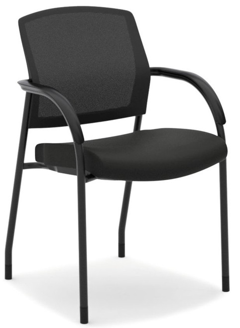 Hon Lota Mesh Back Multi-Purpose Stacking Chair with Black Fabric