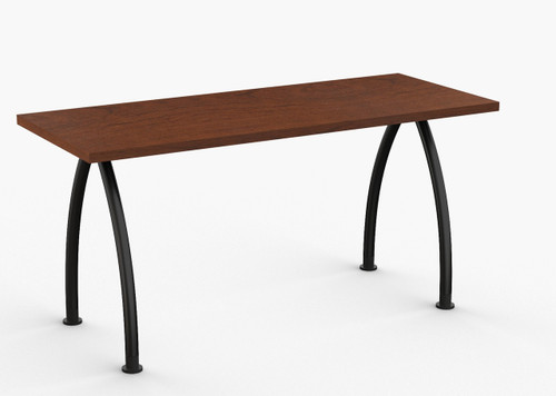 "Grace Training Table in Cherry with Standard Black Legs 24"" x 60"""