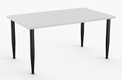 "Nova Training Table in Grey with Standard Black Legs 30"" x 60"""