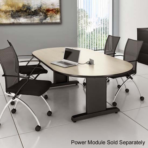 CSII Racetrack Laminate Conference Table in Classic Rock
