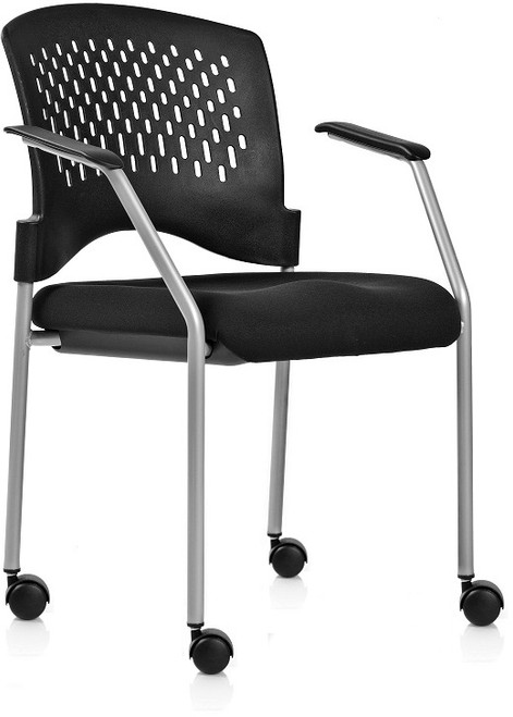 Monaco Guest with fabric seat and casters