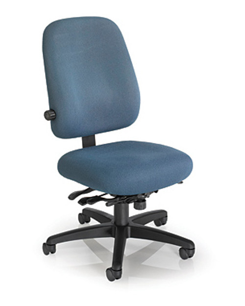 Big and Tall Tasker in Basic Blue with Lumbar Adjust