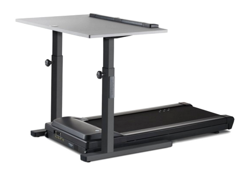 TR1200-DT5 Treadmill Desk, charcoal frame with grey desktop