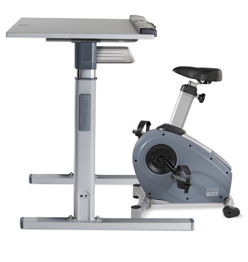 LifeSpan C3-DT7 Upright Electronic Bike Desk Built-In Console