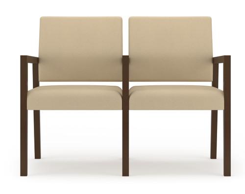 Brooklyn Wood Two Seat Sofa