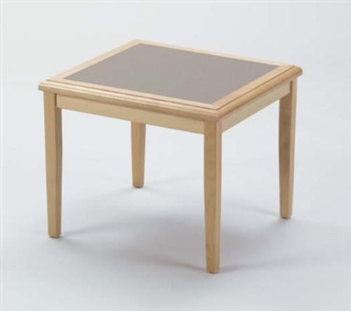 Savoy Wood Corner Table, Natural with Gray Matrix