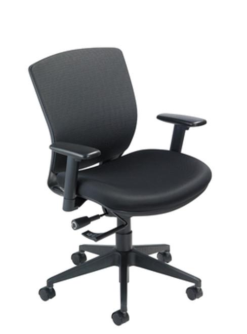 VXO Task Chair, black base and frame in Black Mystic upholstery