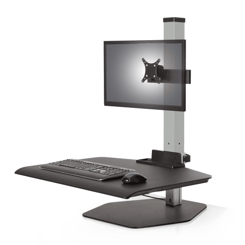 Winston Sit-Stand Workstation Single Monitor Silver