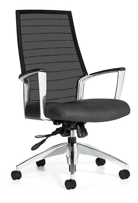 Global Accord High Back Mesh Tilter in Granite Rock (UR20) Seat Fabric