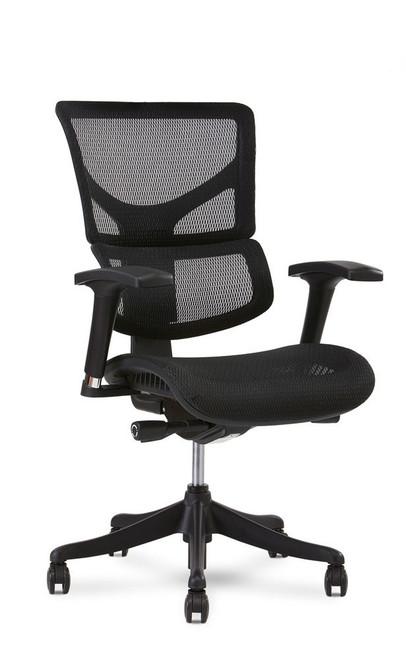 X1 Flex Mesh Ergonomic Office Chair, Black Flex Mesh, without Headrest