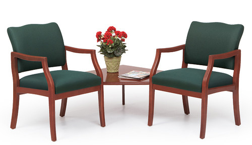 Franklin 2 Chairs with Connecting Corner Table