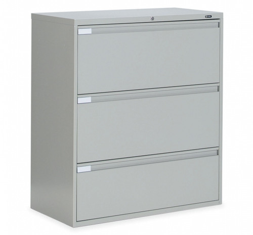 3 Drawer Lateral File in Light Grey, 36""